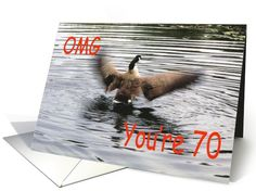 Happy #70th #Birthday #Goose #flapping card