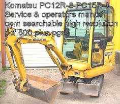 Komatsu Excavator PC12R-8 PC15R-8 Digital Factory Service Manual Owners Manual   | eBay