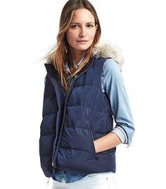 GAP ColdControl Max Hooded Puffer Vest