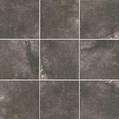 Master bathroom.  Floor tile.  American Olean: Bevalo Porcelain, color: Charcoal.