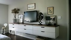 wall hung dresser.  No bending over for the bottom drawer.  Perfect for days when my hips and knees really hurt.