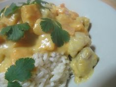 Curry de lotte et patates douces Monkfish curry and sweet patatoes