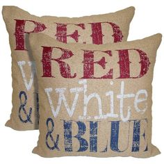 red white u0026 blue pillows 22 liked on polyvore featuring home home