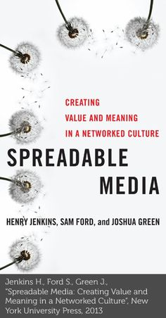 "Spreadable Media: ""If it doesn't spread, it's dead!"" is the key message the authors start the book with. Spreadable media by Henry Jenkins, Sam Ford, and Joshua Green tries to provide a theoretical and empirical explanation to the circulation of new media content. Filled with current examples, the book shows how audiences increasingly construct their own media environments while negotiating with consumers"