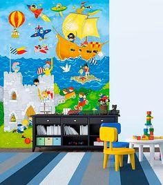 O painel de parede estampado para meninos é uma opção divertida para o quarto dos pequenos. Com estampa alegre, estimula a criatividade das crianças e deixa a decoração descontraída.