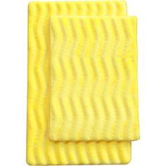 Latitude Run Saulter Wave 2 Piece Bath Mat Set Color: Yellow