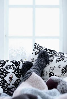 Socks and blanket on a cold day ...<3