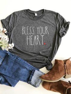 Bless Your Heart Shirt, Rae Dunn Inspired, Southern Sayings T-Shirt - Source by peneazul shirts with sayings Vinyl Shirts, Mom Shirts, Cute Shirts, Funny Shirts, T Shirts For Women, Southern Sayings, Southern Shirt, Xl Shirt, Moda Boho