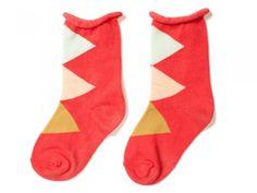 Coral Argyle Socks