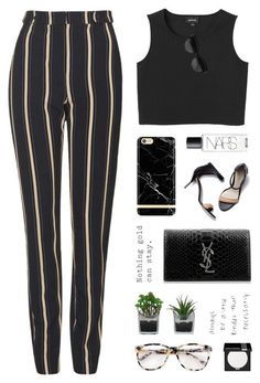 """""""Striped Trousers"""" by starit ❤ liked on Polyvore featuring Topshop, 3.1 Phillip Lim, Monki, NARS Cosmetics, Yves Saint Laurent, Givenchy, Threshold, Prism and MAKE UP FOR EVER"""
