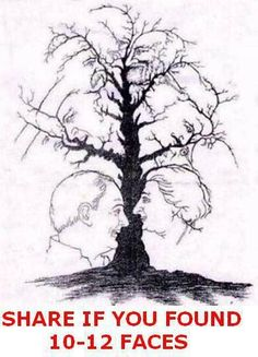 Tree of faces!!  I see 11.  How many do you see?