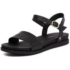 Windsor Smith Lucee Black (120 AUD) via Polyvore featuring shoes, sandals, black evening sandals, black sandals, low heel shoes, black shoes and special occasion sandals