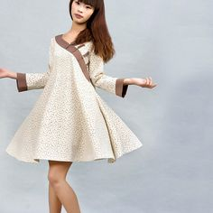 Pattern   Creamcolored  linen shirt 0029 by xiaolizi on Etsy, $38.00