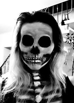 Halloween Skull  Face Make-up Skelett