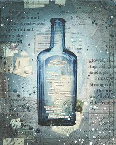mixed media bottle art