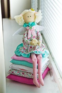 The Princess and the Pea. Interior Dolls Textile Tilda Cloth Doll, handmade. | eBay