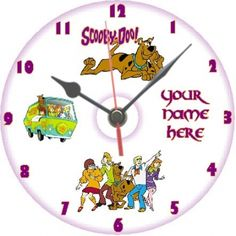 Scooby Doo cd clock personalised sweep movement
