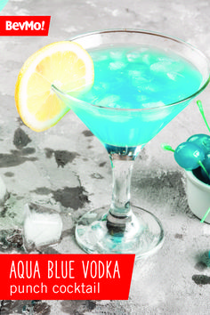Find a fruity cocktail that pairs perfectly with your summer party—like this Aqua Blue Vodka Punch recipe from BevMo! Thanks to the pineapple juice, blue curacao, lemonade, and vodka, this vibrant drink has a delicious tropical flavor that's easy to make.