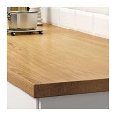 """IKEA - MÖLLEKULLA, Countertop, 98x1 1/2 """", , The countertop has a full plank design that gives it an authentic plank expression with a genuine wood feeling.Every countertop is unique, with varying grain pattern and natural color shifts that are part of the charm of wood.The countertop's plank expression is enhanced by the design on the edges.Good environmental choice, because the method of using a top layer of solid wood on particleboard is resource-efficient.Countertop with a top layer of…"""