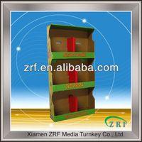 Pop corrugated cardboard advertising display stand