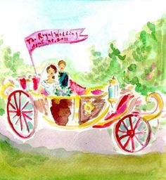 The Royal Wedding, April 29, 2011. Prince & Princess charming, by Paige Smith, of Lilly Pulitzer