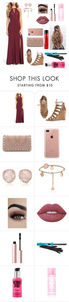 """""""Prom"""" by imagineusforever ❤ liked on Polyvore featuring Morgan & Co., Avon, Valentino, Belkin, Monica Vinader, Lime Crime, Too Faced Cosmetics, Lorion and Sexy Hair"""