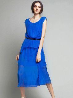 Casual Tea Length U Neck Loose Dresses : KissChic.com