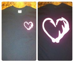 -Black T-shirt with pink ink-small Hook n Antler logo on front left-large Hook n Antler logo on the back-not fitted