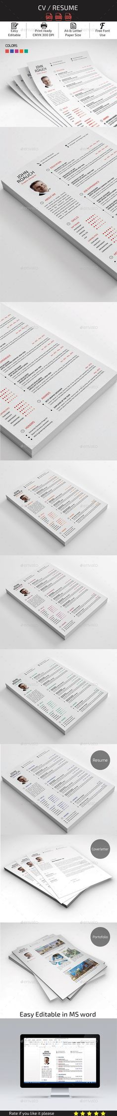 Simple Resume\/Cv Volume 4 Business resume, Simple resume and - resume in indesign