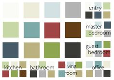 How this lady created a whole house color palette/scheme. :)
