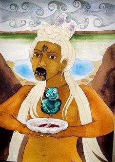 Robyn Kahukiwa Creation Myth, Maori Designs, New Zealand Art, Nz Art, Hawaiian Art, Maori Art, Kiwiana, Indigenous Art, Artist Painting