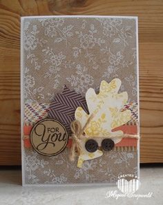 Magical Scrapworld: fall card Stampin' Up! I love lace