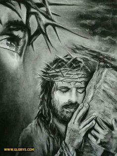 Jesus Christ In Heaven Drawings Images & Pictures Christian Drawings, Christian Art, Jesus Drawings, Pencil Drawings, Jesus Christ Drawing, Pencil Art, Art Drawings, Christus Tattoo, Jesus E Maria