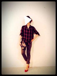 cno(CNOCNO0@insta)│GUのシャツ・ブラウスコーディネート