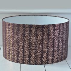 Silk lampshade with hand drawn metallic butterfly print. Dimensions are diameter x height. x table silk,.