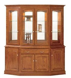 Amish Manchester Canted Hutch - Keystone Collection