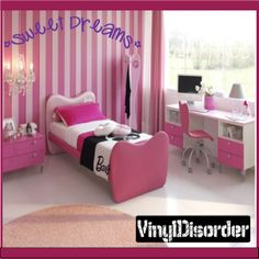 Sweet Dreams Wall Quote Mural Decal