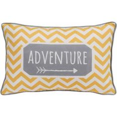 Better Homes and Gardens Chevron Adventure, Yellow and Grey Whimsical Oblong Pillow with Binding - Pillow for great room Manly Living Room, Living At Home, Linen Pillows, Decorative Throw Pillows, Bed Linen, Grey Pillows, Chevron Bedding, Discount Bedroom Furniture, Pillow Inspiration