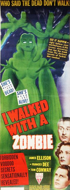 """""""I Walked with a Zombie"""", horror film by Jacques Tourneur (USA, 1943)"""