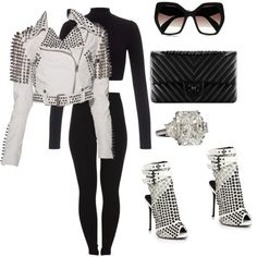 Untitled #145 by sanchez-drummond on Polyvore featuring polyvore fashion style Lipsy Burberry Pieces Giuseppe Zanotti Prada Chanel
