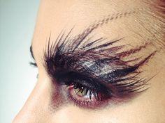 Creative eye makeup by Katy Albright