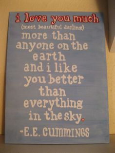 Painted Canvas  EE Cummings  Love by coolzeens on Etsy, $18.00