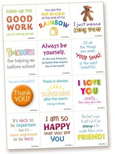 Printing a ton of these out so Brynn can have a note in her lunchbox from Daddy everyday!