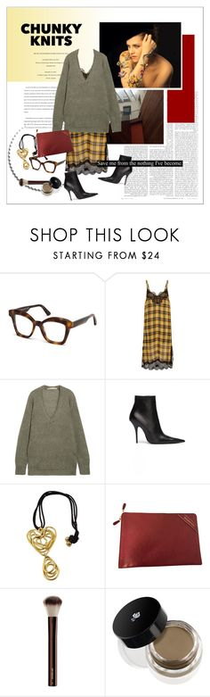 """""""#chunkyknits"""" by stylemeup-649 ❤ liked on Polyvore featuring Balenciaga, Dion Lee, Hourglass Cosmetics and Lancôme"""