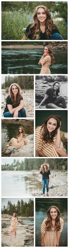 Spokane senior portrait photographer, summer senior pictures, senior picture ins… - New Years İdeas Summer Senior Pictures, Senior Photos Girls, Senior Girl Poses, Senior Picture Outfits, Senior Girls, Senior Posing, Senior Session, Senior Portraits, Lake Senior Pictures