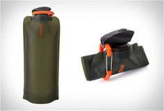 The Vapur Eclipse Collapsible Water Bottle, is perfect for hikers and campers that want to travel light. When exploring the outdoors, a water bottle or water canteen can occupy valuable space, the unique Vapur Eclipse can be folded, rolled up or simply flattened when not in use. The bottle is freezable and dishwasher safe, and comes with a handy carabiner for attaching to your backpack. $13.99