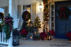 Rusty Heart Designs: Christmas Front Porch