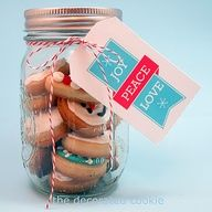 Bite-sized Sugar Cookies in a Jar - links to free tags & recipe