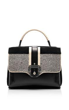 Shop Faye Leather Suede and Calf-Hair Handbag by Paula Cademartori Now Available on Moda Operandi