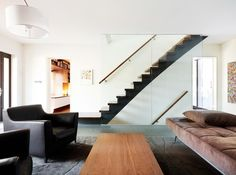 contemporary living room by Altius Architecture Inc
